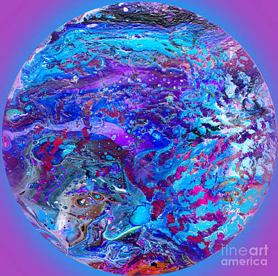 Painting - #124 Undersea Pour by Expressionistart studio Priscilla Batzell