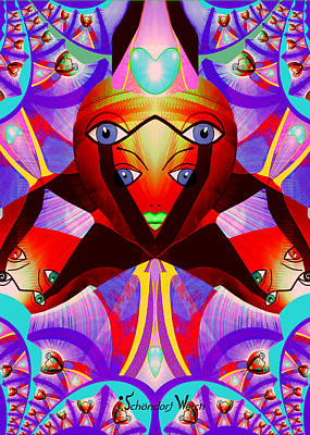Painting - 1240 - Eye Pop ... by Irmgard Schoendorf Welch