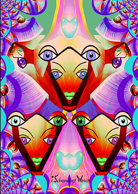 Painting - 1228 - Kaleidoscope by Irmgard Schoendorf Welch
