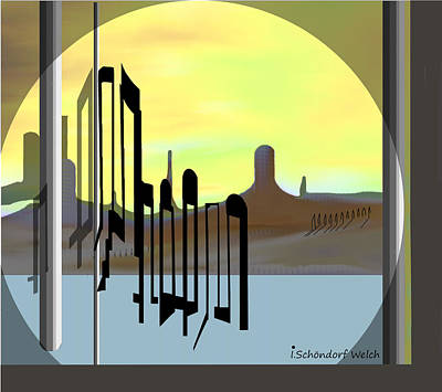 Painting - 1254 - Memories Of A Strange Land  by Irmgard Schoendorf Welch