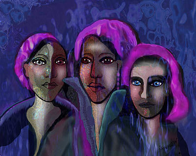 Painting - 1257   Blue Ladies V by Irmgard Schoendorf Welch