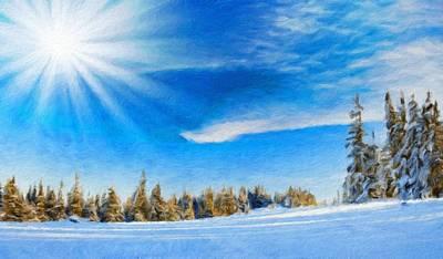 Sun Painting - Nature Landscape Oil by Margaret J Rocha
