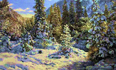 Valley Painting - Nature New Landscape by Edna Wallen