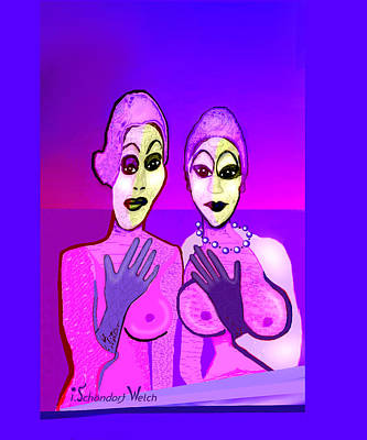 Painting - 1261 - Pink Ladies by Irmgard Schoendorf Welch