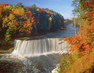 Photograph - 126231 Upper Falls Mi H by Ed Cooper Photography