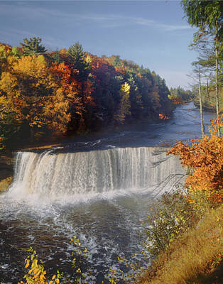 Photograph - 126232 Upper Falls Mi V by Ed Cooper Photography