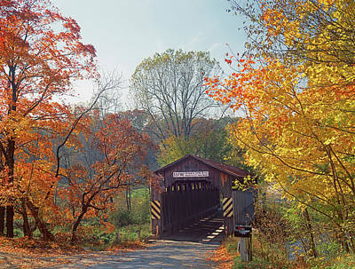 Photograph - 126801 Fallasburg Covered Bridge Mi by Ed Cooper Photography