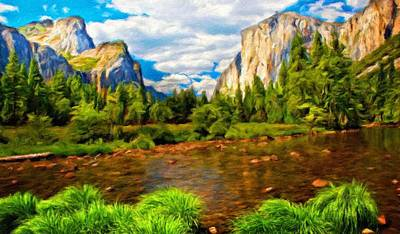 Water Painting - Nature Landscape Wall Art by Margaret J Rocha