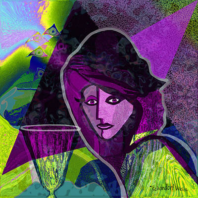 Digital Art - 1271 - In A Purple Mood 2017 by Irmgard Schoendorf Welch