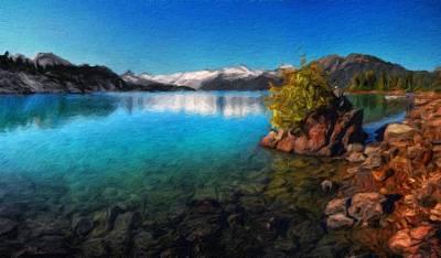 Autumn Painting - Nature Landscapes Prints by Margaret J Rocha