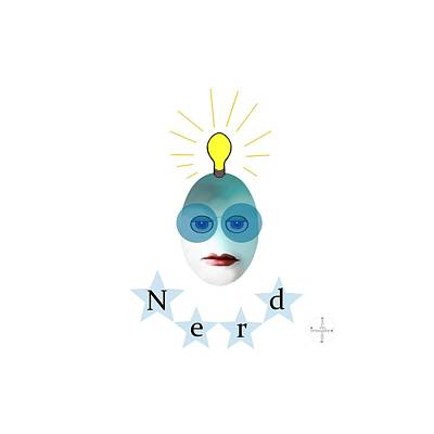 Painting - 1282 - Nerd T Shirt Design by Irmgard Schoendorf Welch