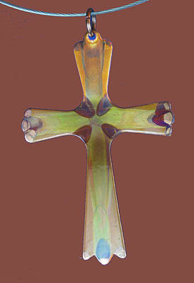Jewelry - 1282a Golden Cross by Dianne Brooks