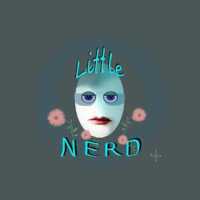 Painting - 1283 - Little Nerd Tshirt Design by Irmgard Schoendorf Welch