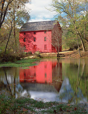 Photograph - 128307 Alley Spring Mill by Ed Cooper Photography