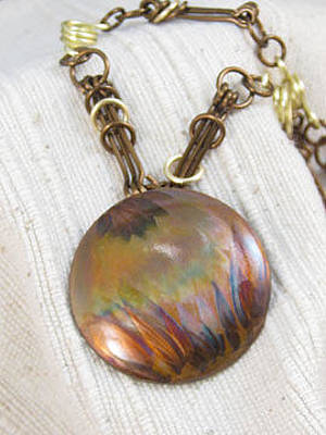 Jewelry - 1285 Inferno Necklace by Dianne Brooks