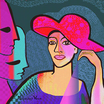 1296 - The Red Hat Art Print by Irmgard Schoendorf Welch