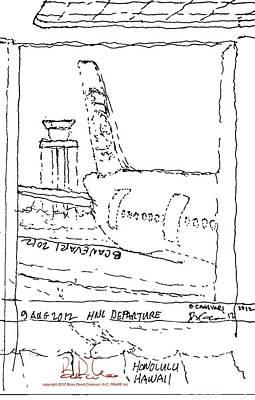 12.au.hnl.departure Art Print