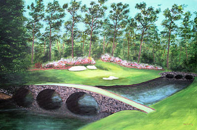 Painting - 12th Hole At Augusta National by Ken Figurski