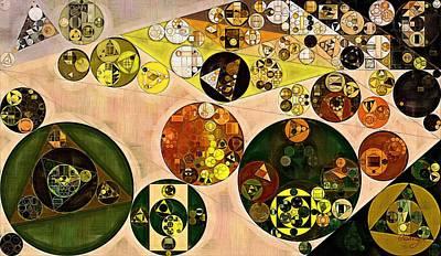 Forms Digital Art - Abstract Painting - Zinnwaldite Brown by Vitaliy Gladkiy