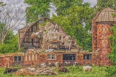Barn Art Print by Dan Traun