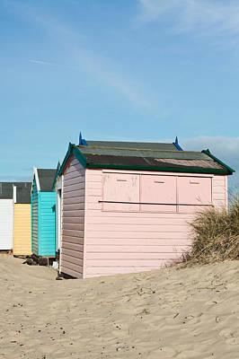 Beach Huts Art Print by Tom Gowanlock