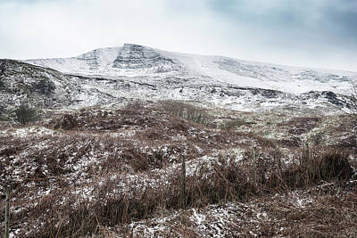 Beautiful Winter Landscape Image Around Mam Tor Countryside In P Art Print by Matthew Gibson