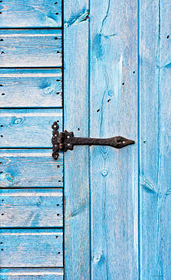 Painted Garden Gate Photograph - Blue Door by Tom Gowanlock