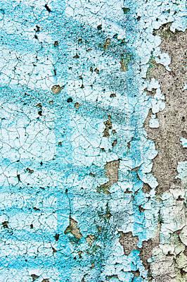 Decrepit Photograph - Blue Metal by Tom Gowanlock