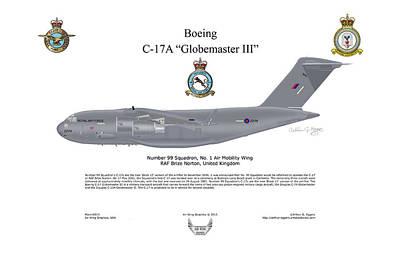 Boeing C-17 Globemaster IIi Art Print by Arthur Eggers