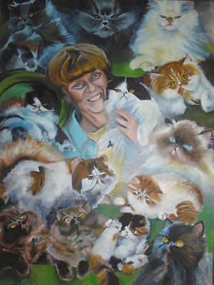 Painting - 13 Cats by Kaytee Esser