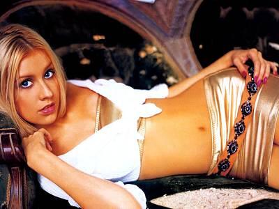 Christina Digital Art - 13 Celebrity Christina Aguilera  by F S