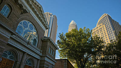 City Of Charlotte, Nc Architecture Art Print