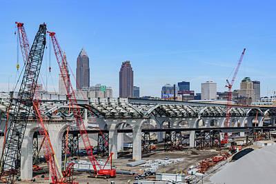City Photograph - Cleveland Skyline by Cityscape Photography