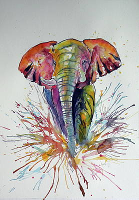 Colorful Elephant Art Print