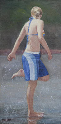 Painting - Cooling Off by Masami Iida