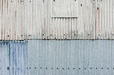 Corrugated Metal Art Print by Tom Gowanlock