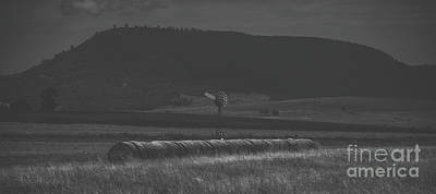 Photograph - Country Agricultural And Farming Field. by Rob D