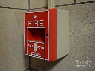 3-57 Photograph - Fire Alarm Pull Station by Ben Schumin