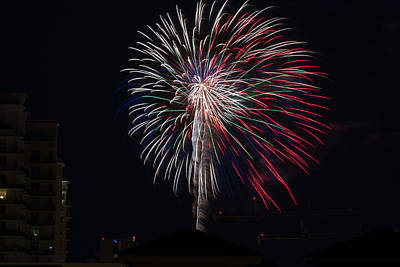 Photograph - Fireworks 2015 Sarasota 25 by Richard Goldman