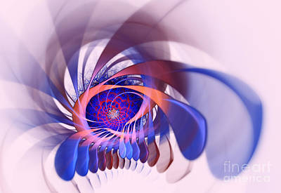 Algorithm Photograph - Fractal Flame by Scott Camazine