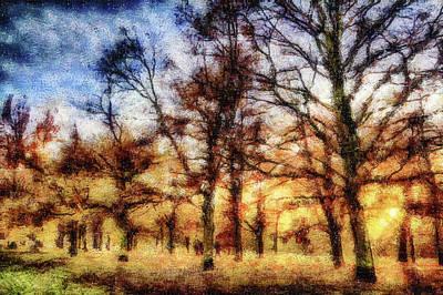 Mixed Media - Greenwich Park London Art by David Pyatt