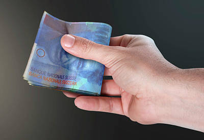 Hand Passing Wad Of Cash Art Print