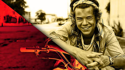 Pop Art Mixed Media - Harry Styles Collection by Marvin Blaine
