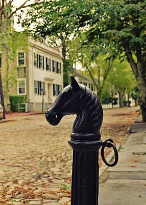 Nantucket Hitching Post Art Print by JAMART Photography