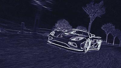 Digital Art - Koenigsegg Agera  by PixBreak Art