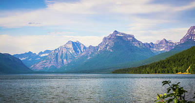 Photograph - Lake Mcdonald In Glacier National Park Montanaa by Alex Grichenko