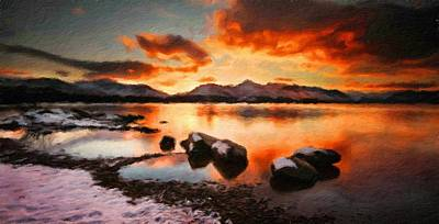 Bob Ross Painting - Landscape Nature Scene by Margaret J Rocha