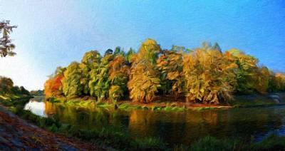 Blue Painting - Landscape Painted by Margaret J Rocha