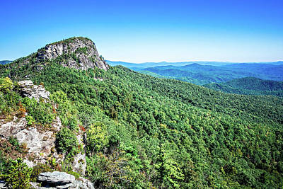 Photograph - Landscape Views On Top Of Table Rock Mountain Nc by Alex Grichenko