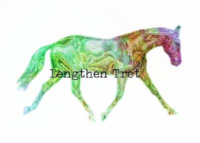 Lengthen Trot Watercolor Quote Art Print by JAMART Photography
